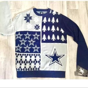 Dallas COWBOYS Ugly Sweater-NEW! Large-Unisex